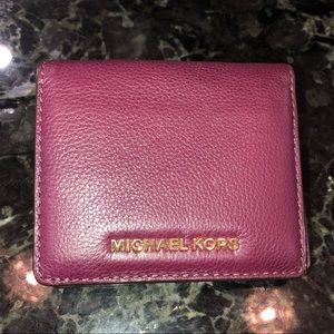 Michael Kors leather wallet.